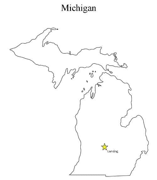 michigan-state-capital-map